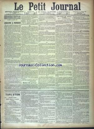 PETIT JOURNAL (LE) [No 9578] du 17/03/1889