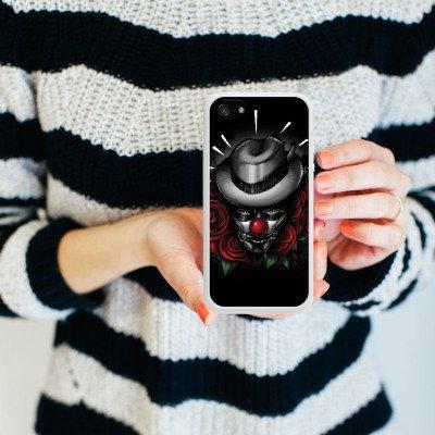Apple iPhone 4 Housse Étui Silicone Coque Protection Joker - le Joker Fleurs Fleurs Housse en silicone blanc