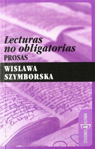 Descargar Libro Lecturas No Obligatorias 3ヲed (Alfabia) de Wislawa Szymborska