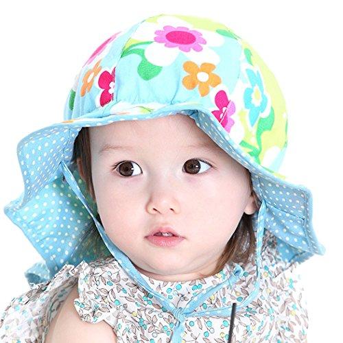 Zoylink Kleinkind Sonnenhut Sommer Hut Wide Brim Reversible Sun Schutz Bucket Hat für Babys Reversible Brim Hut