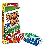 Mattel Games 52370 - Skip-Bo Kartenspiel, geeignet für 2 - 6 Spieler, Spieldauer ca. 30 Minuten, Kartenspiele ab 7 Jahre