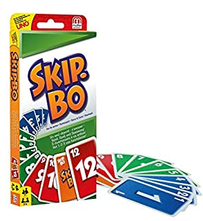 Mattel Games 52370 - Skip-Bo Kartenspiel, geeignet für 2 - 6 Spieler, Spieldauer ca. 30 Minuten, Kartenspiele ab 7 Jahren (B00006YYY5) | Amazon price tracker / tracking, Amazon price history charts, Amazon price watches, Amazon price drop alerts
