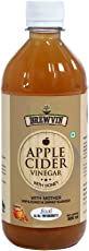 Brewvin Raw and Unfiltered Apple Cider Vinegar with Mother and Honey - 500 ml