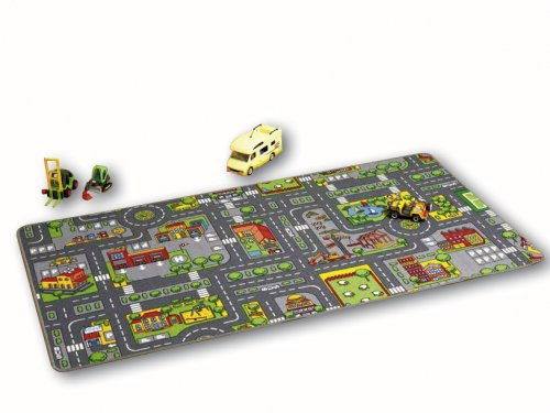 Meubinex 52029406 - Spielteppich City 100 x 190 cm