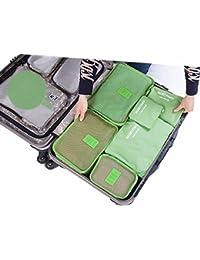 Malayas® Lot de 6Pcs Organisateur de Sac Voyage Sac de Rangement Bagage Valise Ultraléger Cube Pochette Trousse de Toilette pour Vêtement Accessoires Electronique Sac à Chaussure