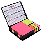 #10: PINZO™ Sticky Note Memo Pad with Arrow Flags in PU Leather Case with 2017& 2018 Calendar - Bright Neon Colors