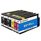 GPC Image 950 951 XL Kompatible Multipack Tintenpatronen für HP 950 XL 951 XL 950XL 951XL(Schwarz/Cyan/Magenta/Gelb) 4 für HP Officejet Pro 8610 8620 8600 8100 8615 251dw 8630 8660 Drucker patronen