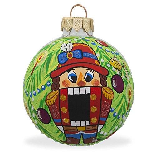 8,3cm schiaccianoci su albero di Natale palla di vetro di Natale ornamento