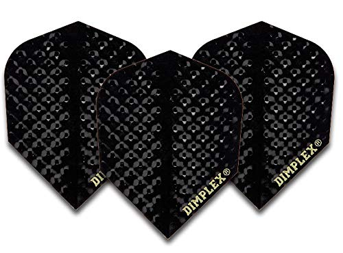 Harrows Darts Unisex-Adult Harrows Dartflights dimplex Black - 4 Sets, Schwarz, Klassisch