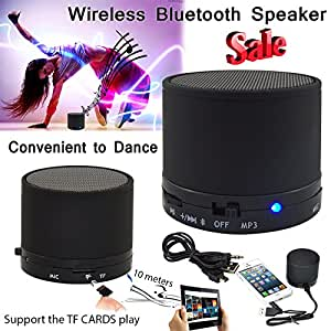 S10 Black PORTABLE BLUETOOTH MINI SPEAKER FOR IPHONE, IPOD, MP3/4, TABLETS PHONES USB S3 S4