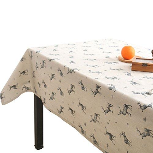 LXJYMX Moderne Minimalistische Tischdecke, Baumwollleinenkunstrechteckcouchtischtuch (Farbe : A,...