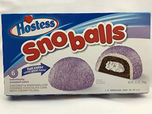 Hostess SNO Balls - 298g (6 Cakes) - Hostess Snowballs Purple - Fun Colour Same Great Taste ...