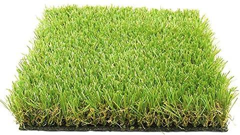 Gazon Synthetique 4m - Gazon Permanent Luxor type pelouse / herbe