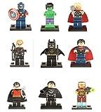Modbrix 9 Stk. Superhelden Fanfiction Minifiguren Super Heroes Figuren