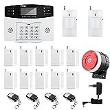 Sistema de Alarma GSM/SMS LCD Pantalla de Menú en Castellano Teclados Llamadas de 6 Teléfonos Diferentes Antirrobo...