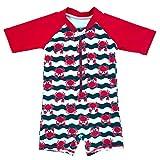 Echinodon Baby-/ Kleinkinder-Badebekleidung Einteiler für Jungen Bademode Schwimmanzug Badeanzug Rot