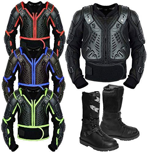 Kids Motorbike corpo armature moto Gear armature motocross Bikes guardia con stivali in pelle moto per capretto approvato bambino