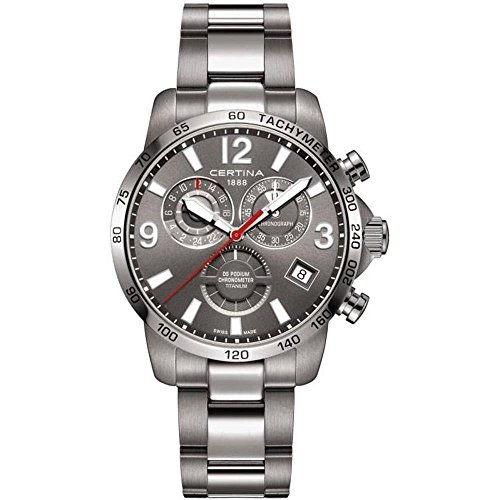 Certina Men's DS Podium GMT 42mm Steel Case Quartz Watch C034.654.44.087.00