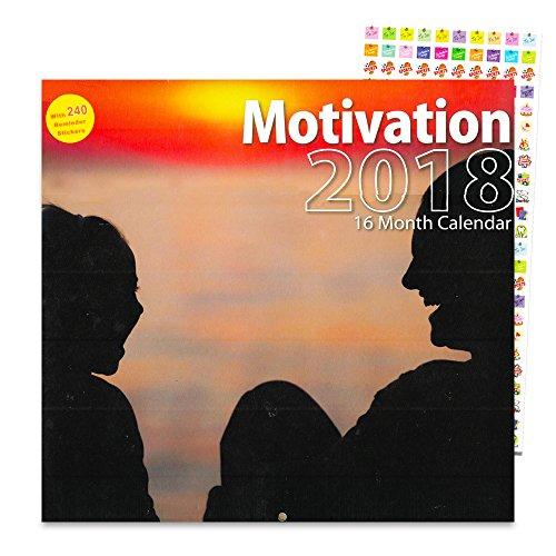 Deluxe Motivation Kalender 2018-Deluxe Inspirierende Wand Kalender Mit Über 200Kalender Aufkleber (12x 12) (Inspirierende Wand Aufkleber)