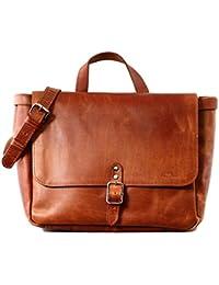 LE POSTIER (S) sac messager en cuir couleur naturel avec bandoulière réglable PAUL MARIUS