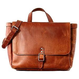 PAUL MARIUS LE POSTIER (S) Bolso bandolera de piel, estilo vintage, bolso a mano, bolso bandolera, color marrón Vintage & Retro