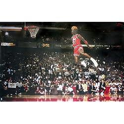 Póster Michael Jordan Slam Dunk Contest (Mate) (88cm x 59,5cm)