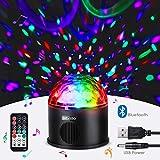 Albrillo LED Bola de Luces Discoteca - Lámpara de Escenario con Altavoz Bluetooth, USB y Control Remoto Inalámbrico con 9 Colores 4 Modos, Música Activada para Fiesta, Bar, Navidad, Regalopara Niños