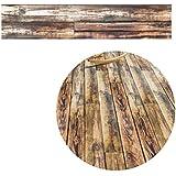 LUFA 5M Auto-adhesivo suelo de grano de madera de papel de contacto que cubre el PVC decorativo extraíble Wallpaper Wall Stickers