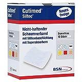 Cutimed Siltec Schaumverband 5x6 cm Nicht Haftend, 12 St