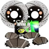 Approved Performance F17344 - [Rear Kit] Premium Performance Drilled/Slotted Brake Rotors and Carbon Fiber Pads by Approved Performance