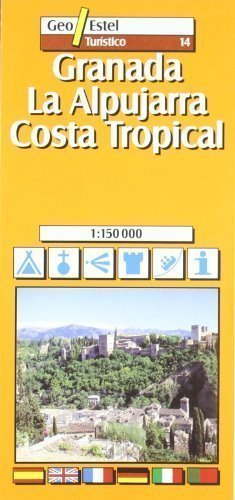Granada, Alpujarras - Costa Tropical Tourist Map 1:150, 000 (Tourist Maps) Revised Edition by Geo Estel published by SGIT Geoestel SA (2004)