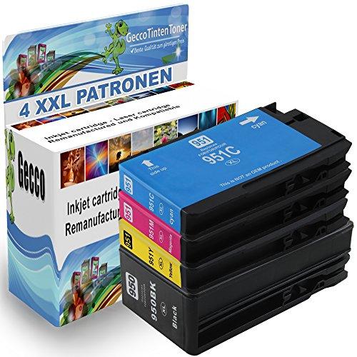 Preisvergleich Produktbild Spetan Druckerpatrone Ersatz für HP 950 xl 951 xl 950xl 951xl XXL Multipack Schwarz Black Cyan Magenta für Officejet Pro 8100 8600 8610 8615 8620 8620 e-All-in-One 8625 8625 e-All-in-One 8630 8640 8660 251dw 276dw HP CN049AE CN046AE C2P43AE, set Auswählen: :4er Set
