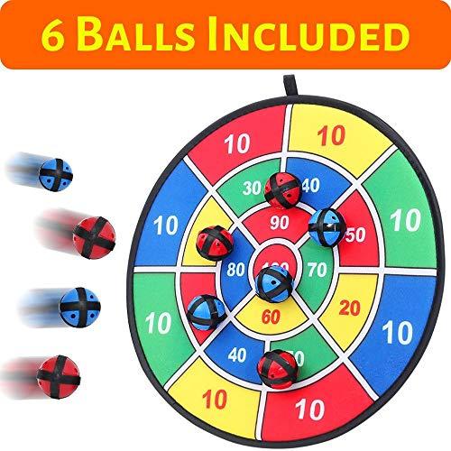 BETTERLINE Stoff und Klett Dartscheibe Spiel mit 6 Klettbällen | Groß 37 cm Durchmesser | Sicher für Kinder