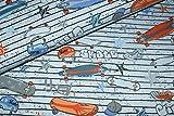 Jerseystoff Cool Boards blau-grau | 1,55 Meter breit | wird
