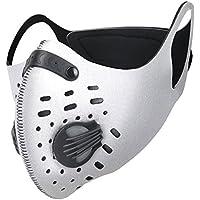 IDABAY Máscara de Deporte Antipolvo de Carbón Activado Transpirable Anticontaminación Filtración Gas de Escape para Ciclismo Motocicleta carpintería césped