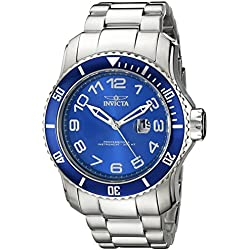 Invicta Men's Pro Diver Steel Bracelet & Case Quartz Blue Dial Analog Watch 15073