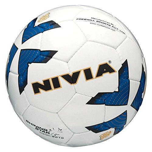 Nivia Shining Star Football, Size 5 (White)