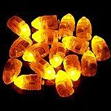 WFZ17 Mini-Laterne für Luftballon, wasserdicht, kugelförmig, für Hochzeit, Geburtstag, Party, 10 Stück, Plastik, gelb, Einheitsgröße