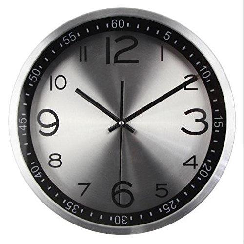 LOTOS Horloge silencieuse - Horloge à Quartz en métal Simple Maison Moderne de 12 Pouces