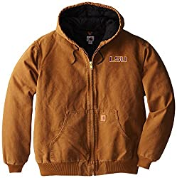 NCAA LSU Tigers Men's Quilted Flannel Lined Sandstone Active Jacket, X-Large Tall