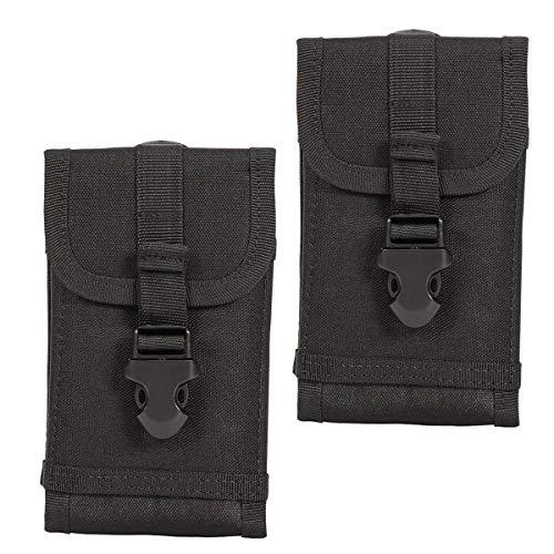 Xidan [2 Stücke] 1000D Nylon Armee Camo Taktische Handytasche Gürteltasche für iPhone X 8 7 Plus 6 Plus, Samsung S9 S8+ S8 S7 S6, Galaxy Note 4 Iphone Horizontal Pouch