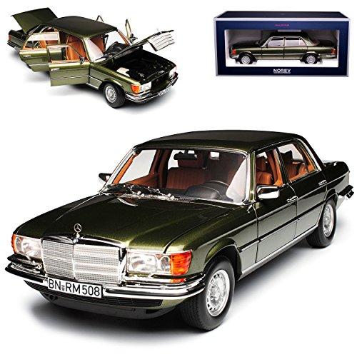 Norev Mercedes-Benz S-Klasse W116 450 SEL 6.9 1976 Grün Metallic 1972-1980 1/18 Modell Auto