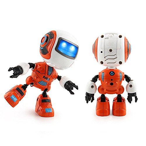 DingLong Intelligenter Mini Musik Roboter, Kinder Licht Spielzeug, Smart Legierung Elektro Sensing Touch Sensor Weihnachten,Puzzle Bildung Spielzeug, Geeignet für: Alter 3+ (Orange)