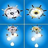 Kinderzimmer lampe mediterrane deckenleuchte junge schlafzimmer lampe kreative cartoon lampe raumlampe ruder kinder lampe (Color : White-45cm*45cm)