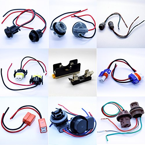 Douilles avec câble prise, compatible avec toutes les lampes, T5 T10 HB3 HB4 H7 H8 H11 7440 7443