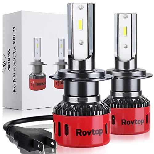 Rovtop Bombilla H7 Halógenas HID LED - 2 Pcs Faros Delanteros para...