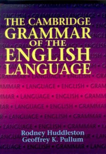 Intitle: Read Kindle [PDF] The Cambridge Grammar of the