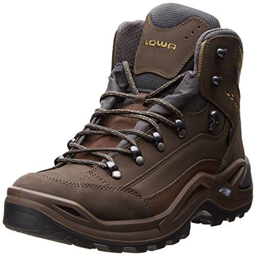 Lowa Renegade Gore-tex Mid, Unisex Erwachsene Combat Boots, grau - Slate/Olive - Größe: 44 EU D(M) Gore-tex Backpacking Boot