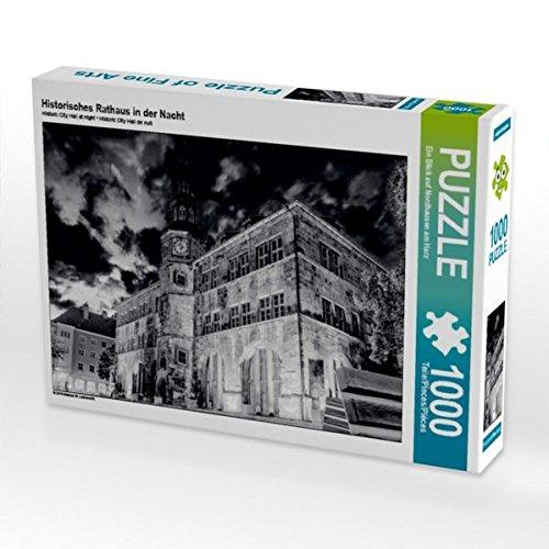 Preisvergleich Produktbild CALVENDO Puzzle Historisches Rathaus in der Nacht 1000 Teile Lege-Größe 64 x 48 cm Foto-Puzzle Bild von EIN Blick auf Nordhausen am Harz