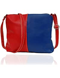 Borse Women Red & Blue PU Sling Bag - Gift For Rakhi